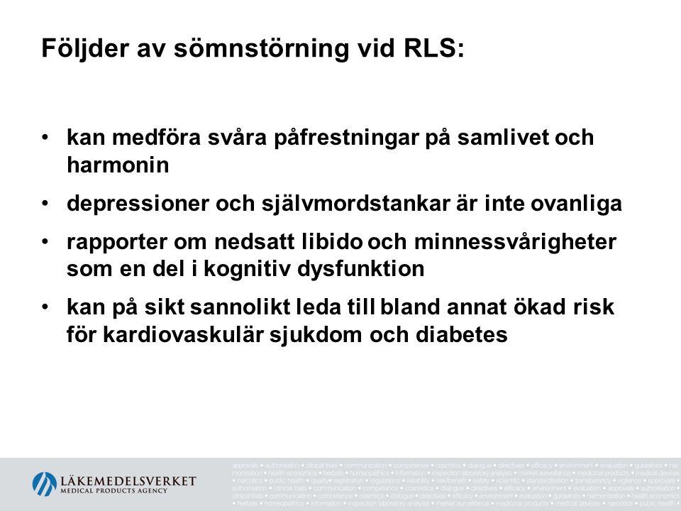 Följder av sömnstörning vid RLS: