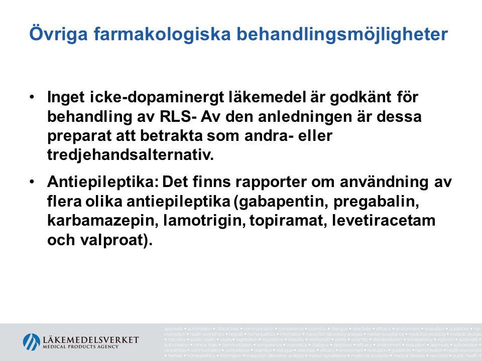 Övriga farmakologiska behandlingsmöjligheter