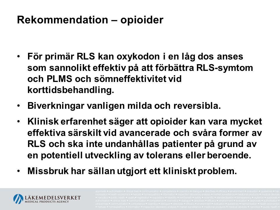 Rekommendation – opioider