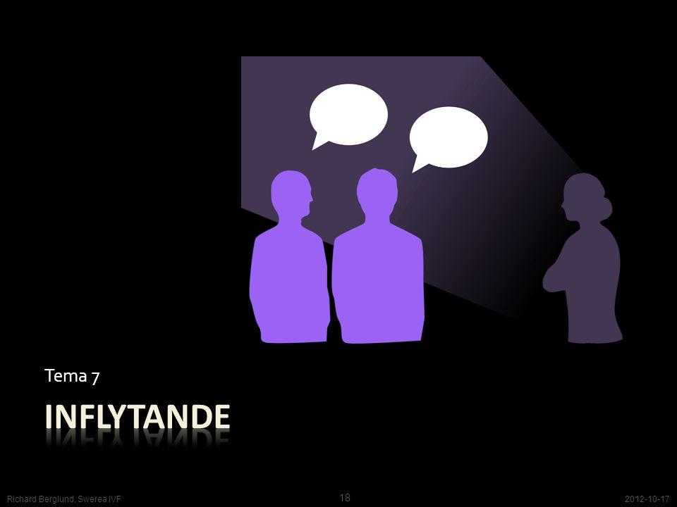 inflytande Tema 7 Vi vill vara hörda och sedda. Skandinavisk tadition.