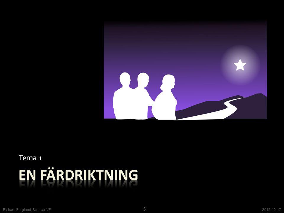 Tema 1 En färdriktning Richard Berglund, Swerea IVF 2012-10-17