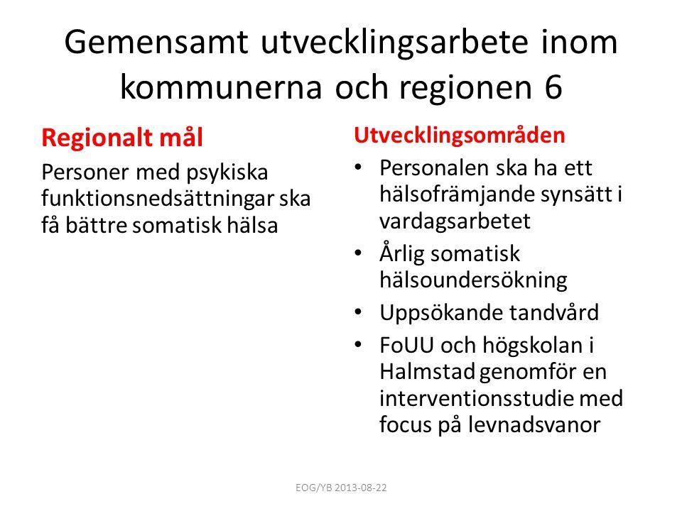 Gemensamt utvecklingsarbete inom kommunerna och regionen 6