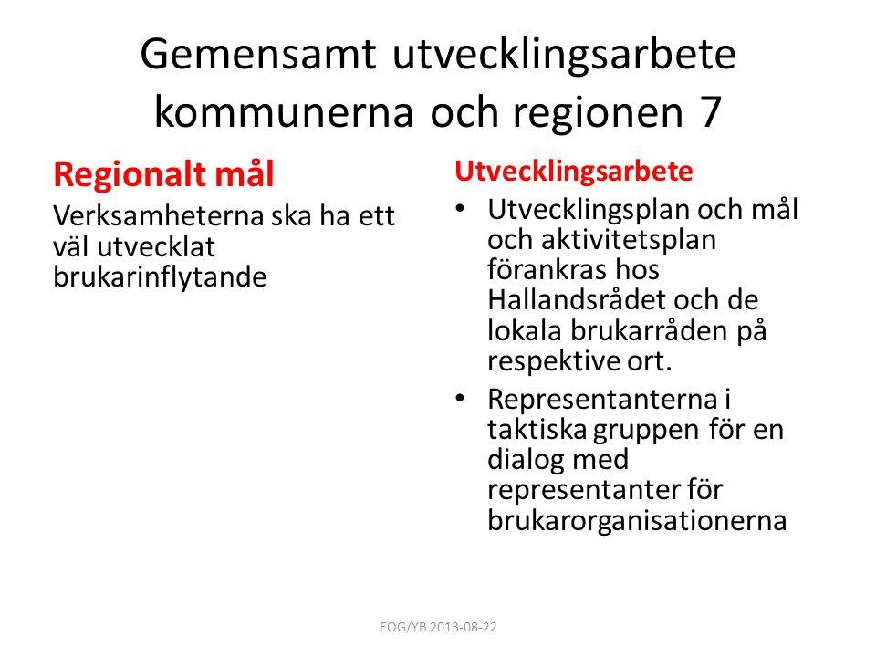Gemensamt utvecklingsarbete kommunerna och regionen 7