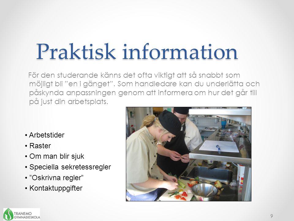 Praktisk information