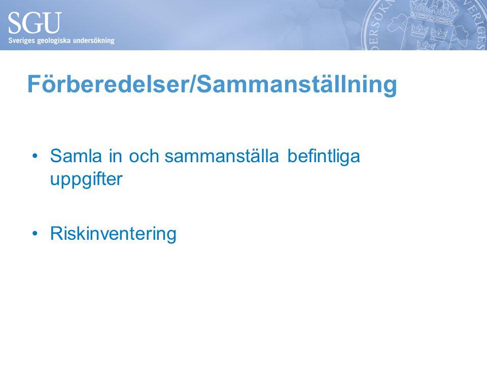 Förberedelser/Sammanställning
