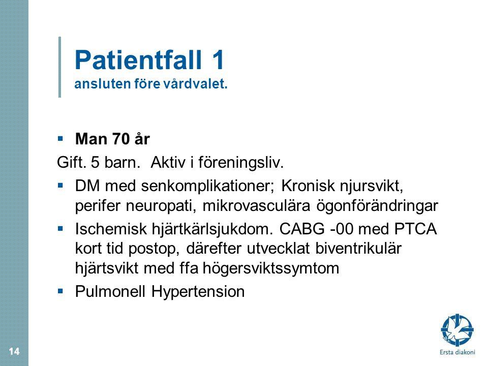 Patientfall 1 ansluten före vårdvalet.