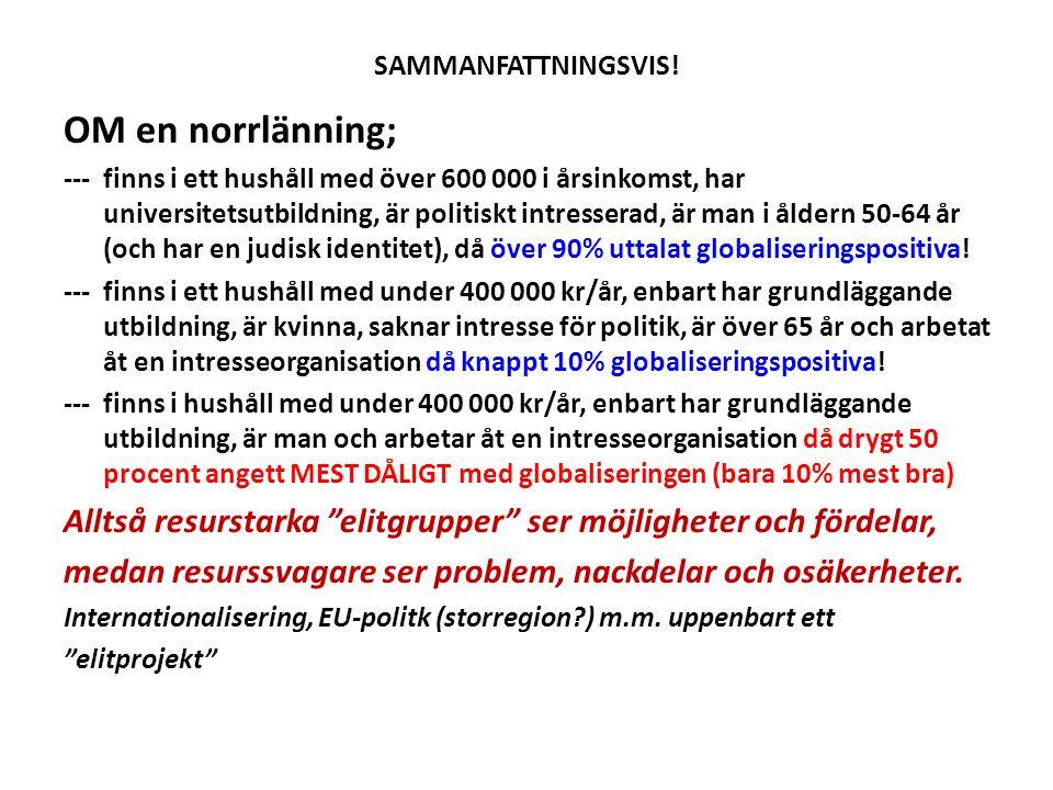 SAMMANFATTNINGSVIS! OM en norrlänning;