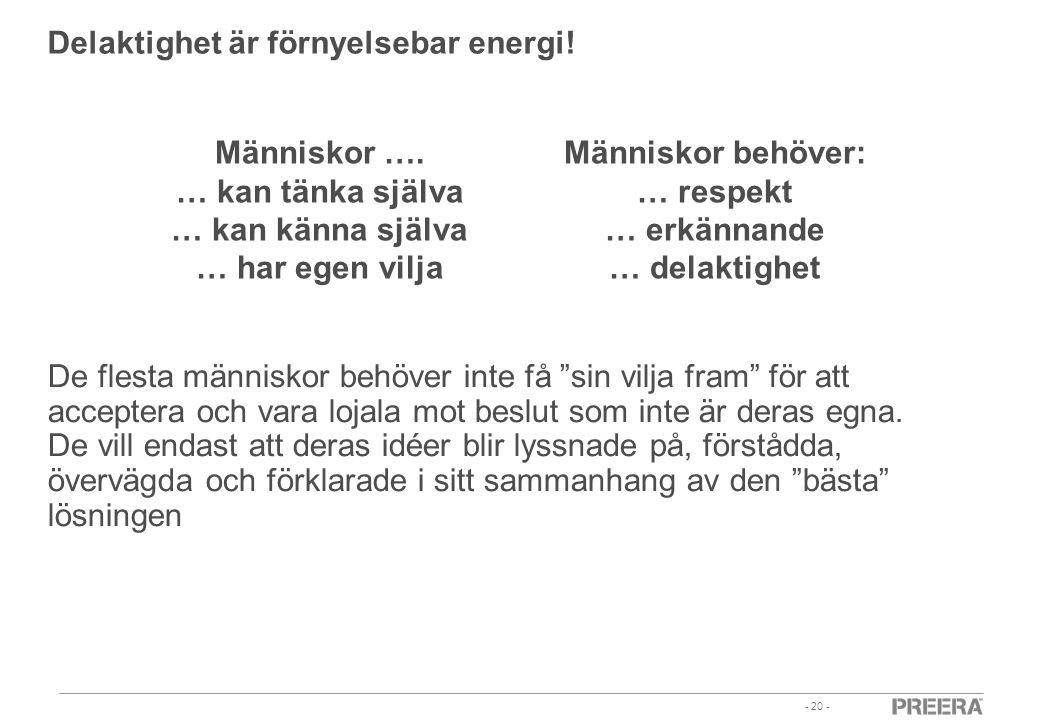 Delaktighet är förnyelsebar energi!