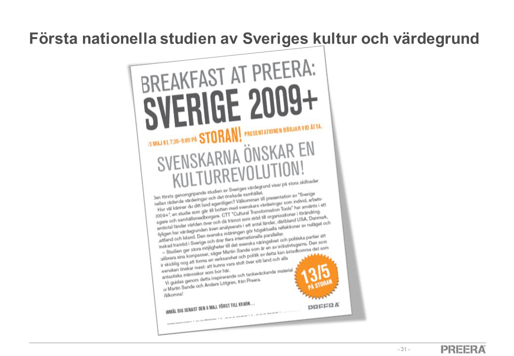 Första nationella studien av Sveriges kultur och värdegrund