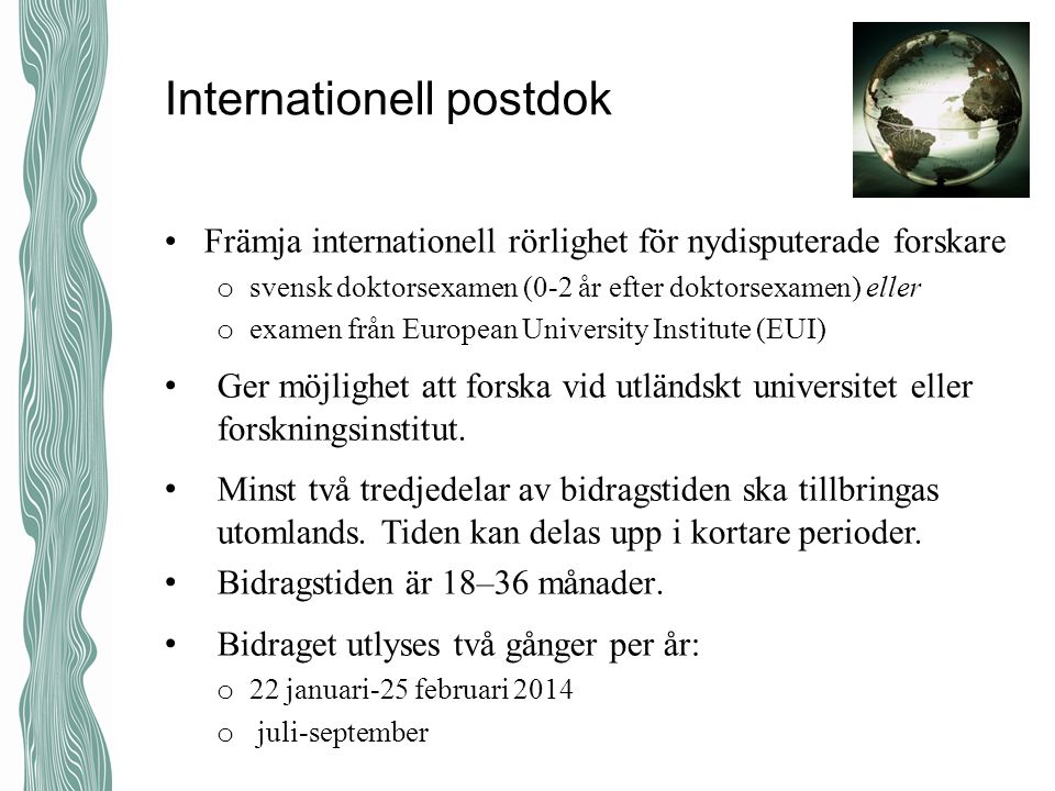 Internationell postdok