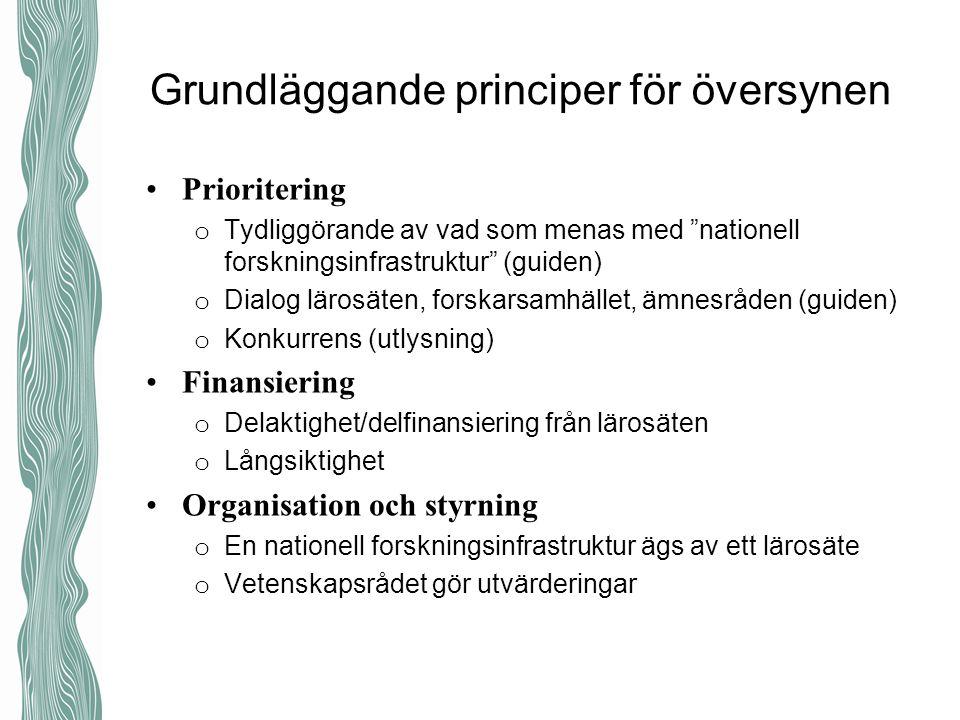 Grundläggande principer för översynen