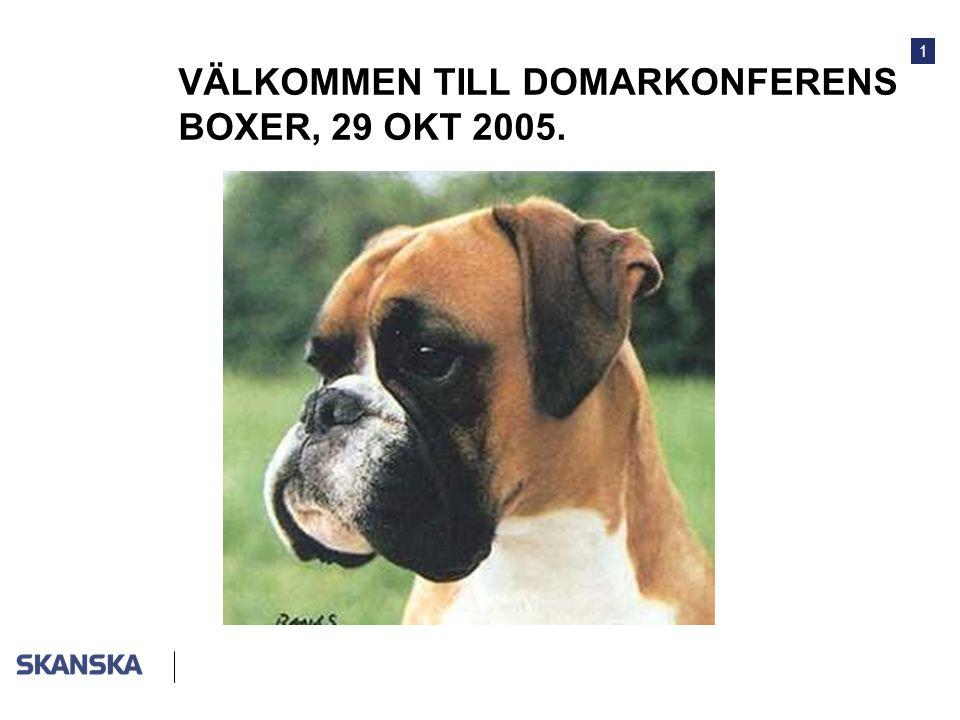 VÄLKOMMEN TILL DOMARKONFERENS BOXER, 29 OKT 2005.