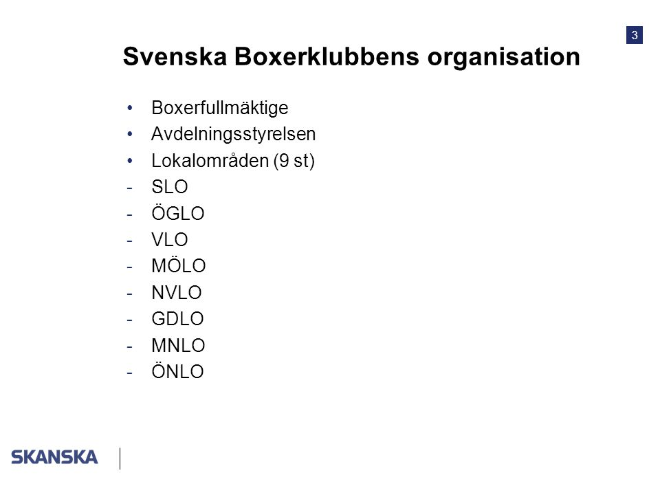 Svenska Boxerklubbens organisation