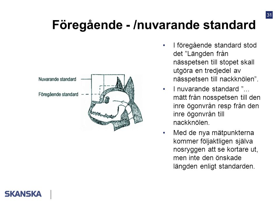 Föregående - /nuvarande standard
