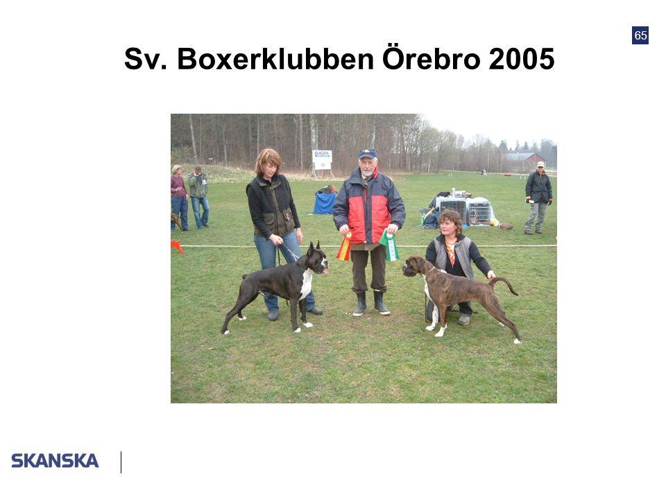 Sv. Boxerklubben Örebro 2005