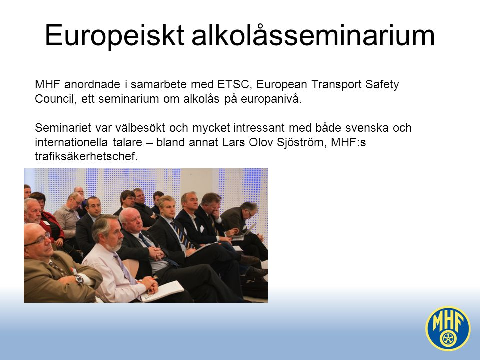 Europeiskt alkolåsseminarium