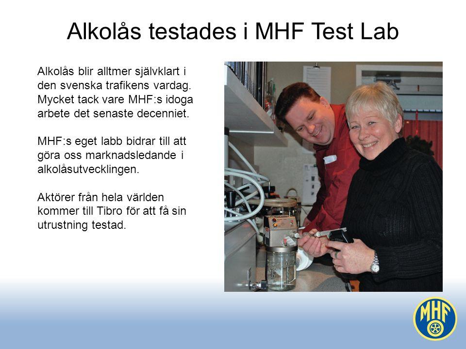 Alkolås testades i MHF Test Lab