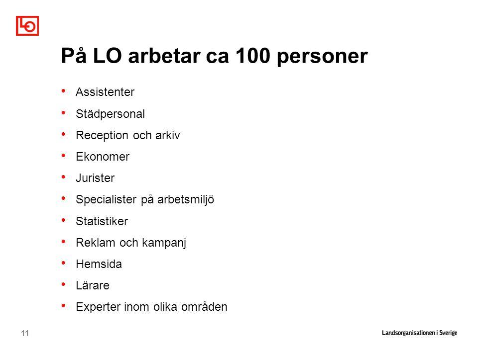På LO arbetar ca 100 personer