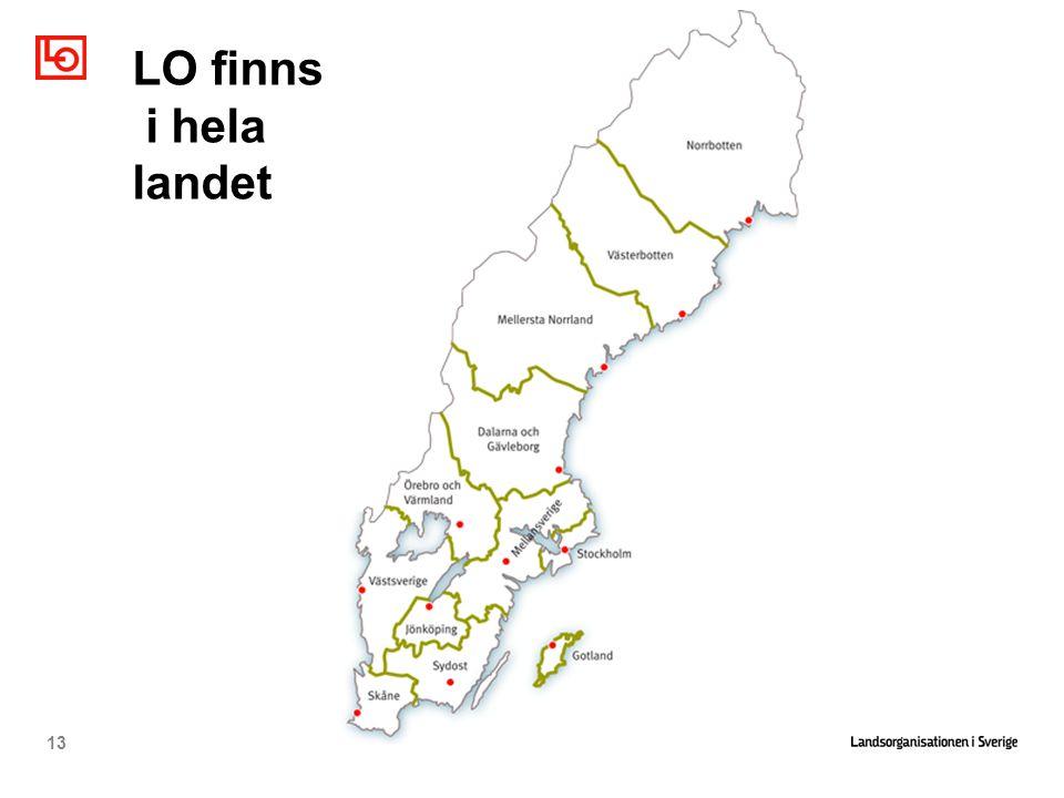 LO finns i hela landet