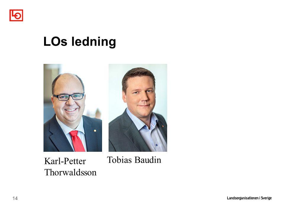 LOs ledning Karl-Petter Thorwaldsson Tobias Baudin