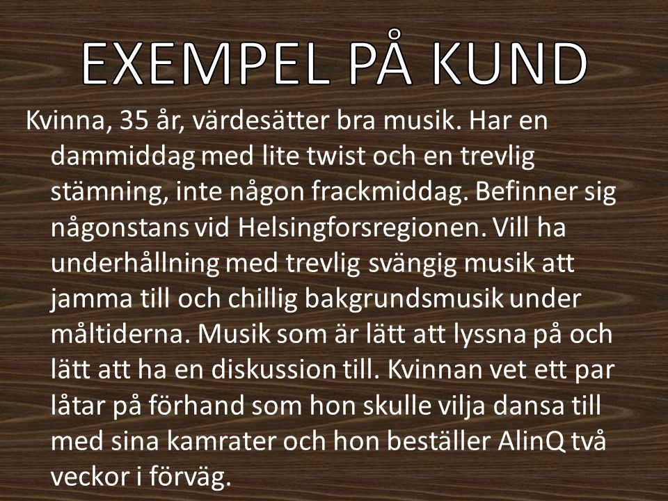 EXEMPEL PÅ KUND