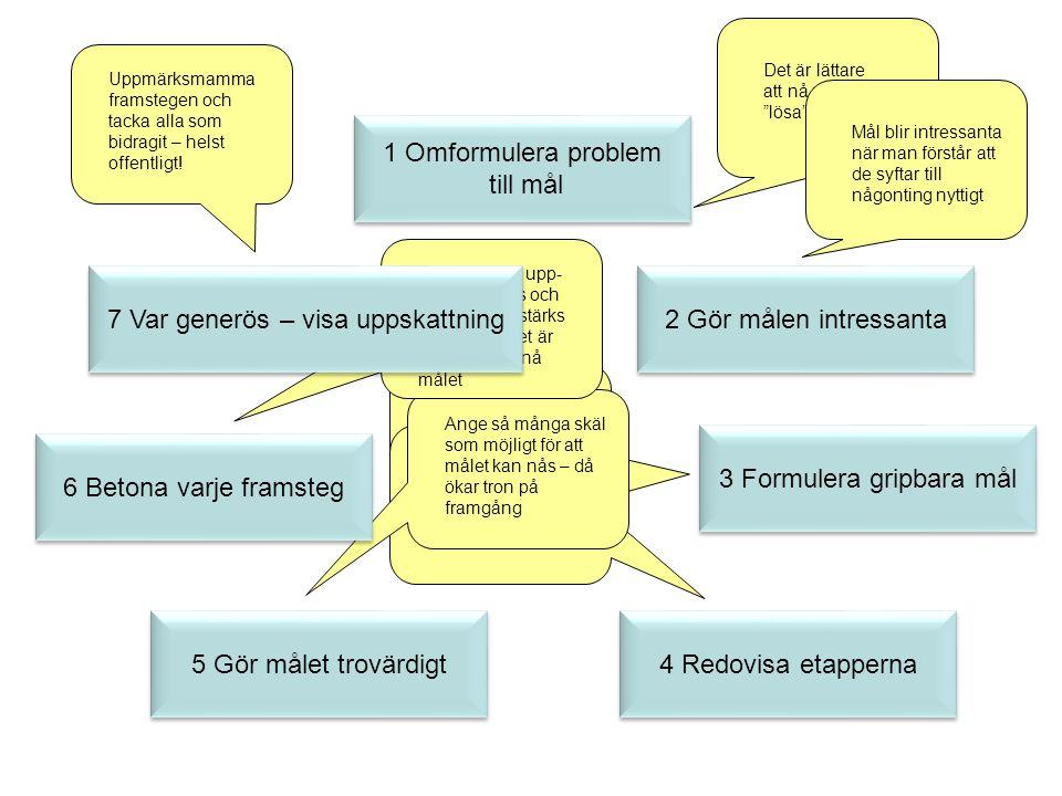 1 Omformulera problem till mål