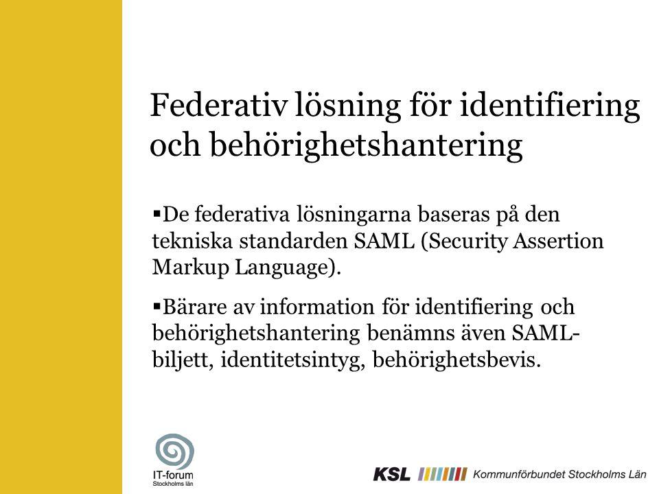 Federativ lösning för identifiering och behörighetshantering