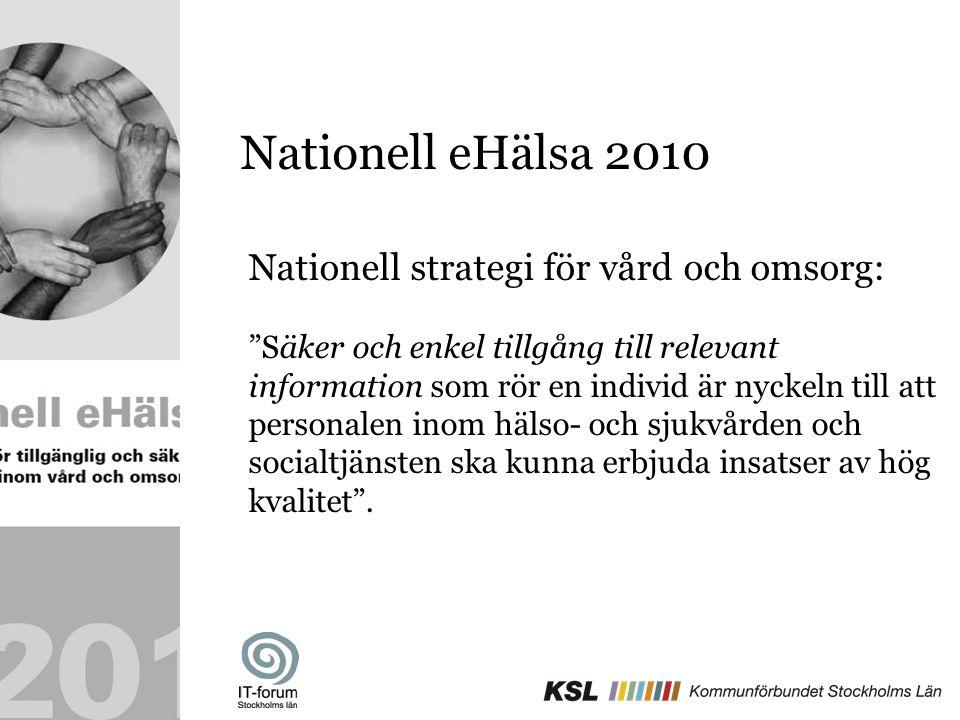 Nationell eHälsa 2010 Nationell strategi för vård och omsorg: