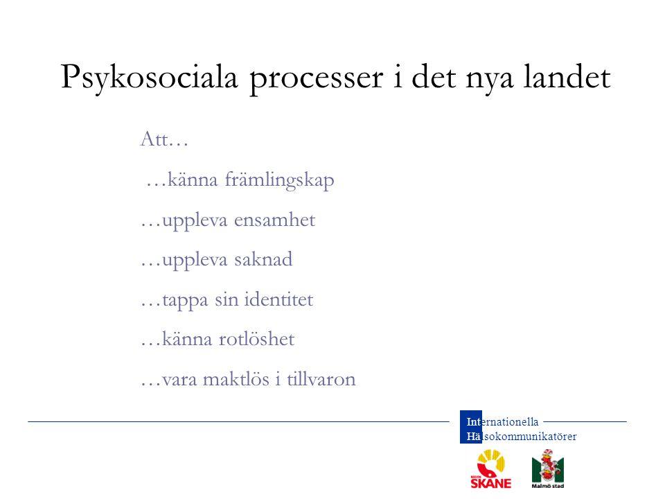 Psykosociala processer i det nya landet