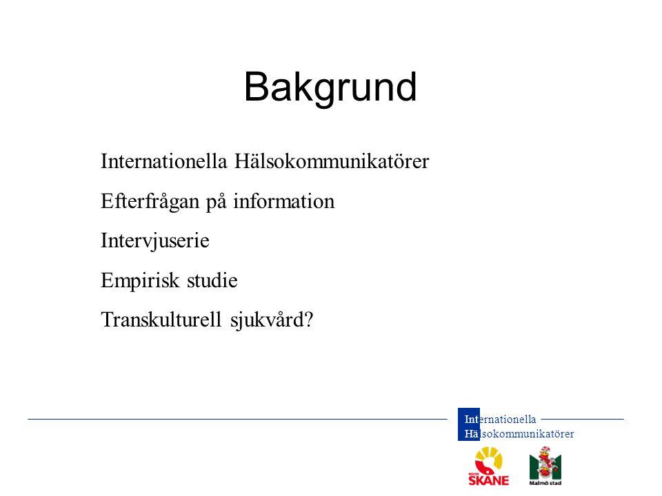 Bakgrund Internationella Hälsokommunikatörer