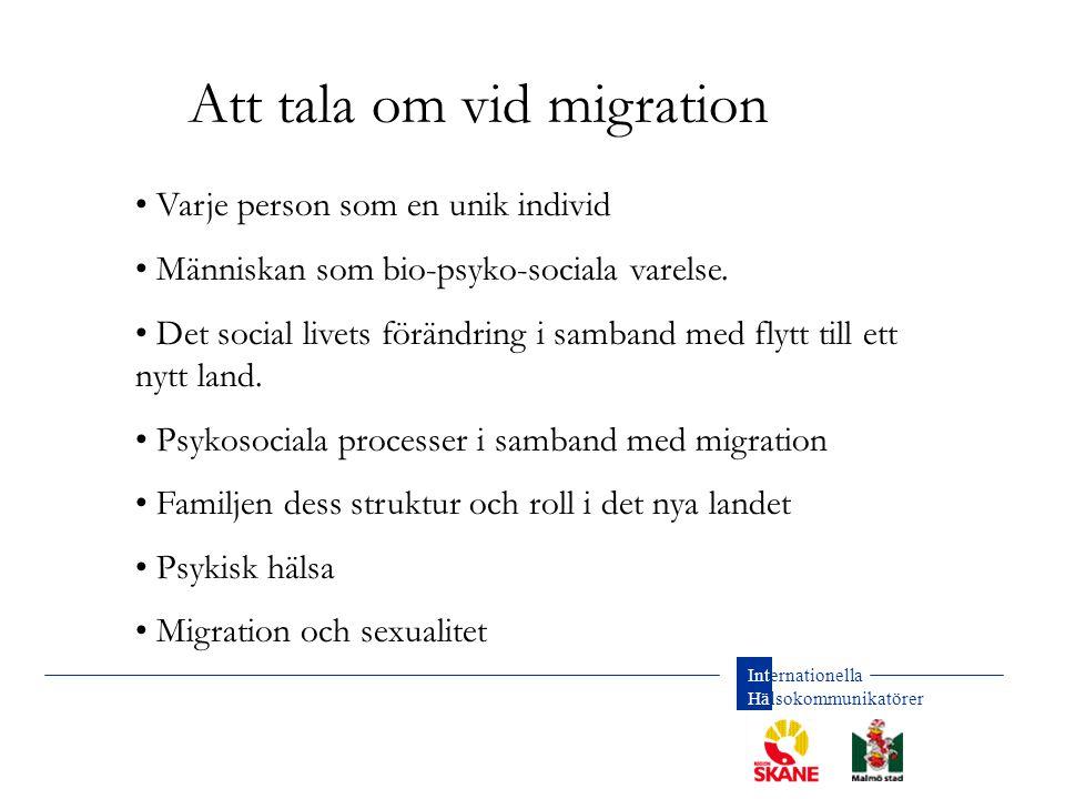 Att tala om vid migration