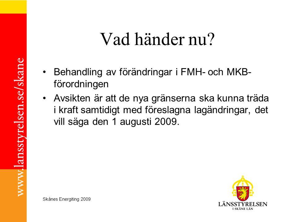Vad händer nu Behandling av förändringar i FMH- och MKB-förordningen