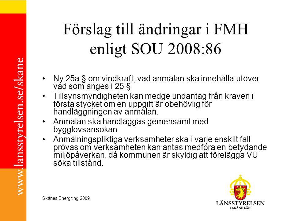 Förslag till ändringar i FMH enligt SOU 2008:86