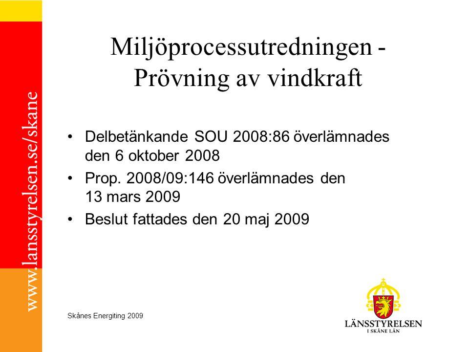 Miljöprocessutredningen - Prövning av vindkraft