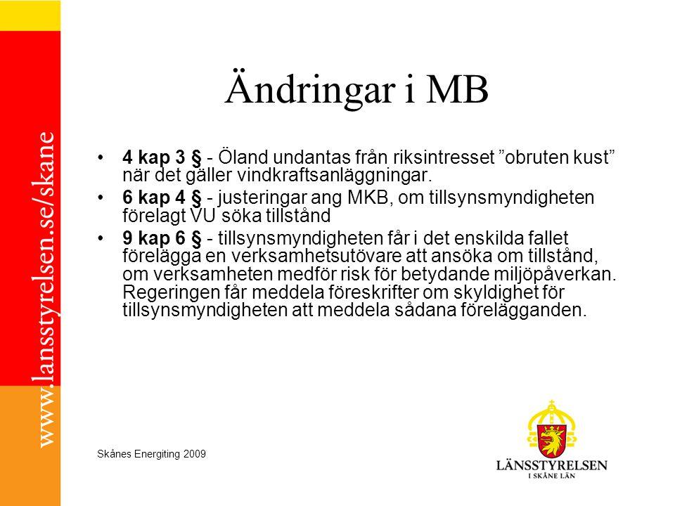 Ändringar i MB 4 kap 3 § - Öland undantas från riksintresset obruten kust när det gäller vindkraftsanläggningar.