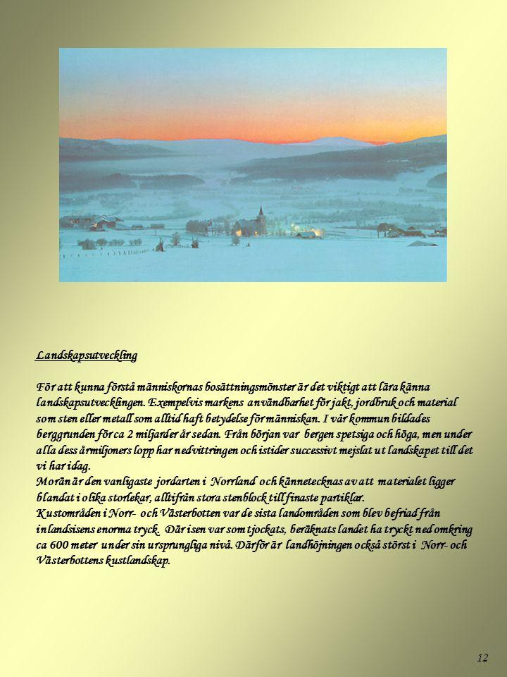 Landskapsutveckling För att kunna förstå människornas bosättningsmönster är det viktigt att lära känna landskapsutvecklingen.