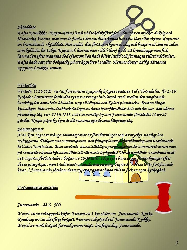 Skräddare Kajsa Kruukkka (Kujan-Kaisa) levde vid sekelskriftstiden