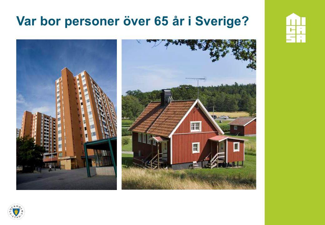 Var bor personer över 65 år i Sverige