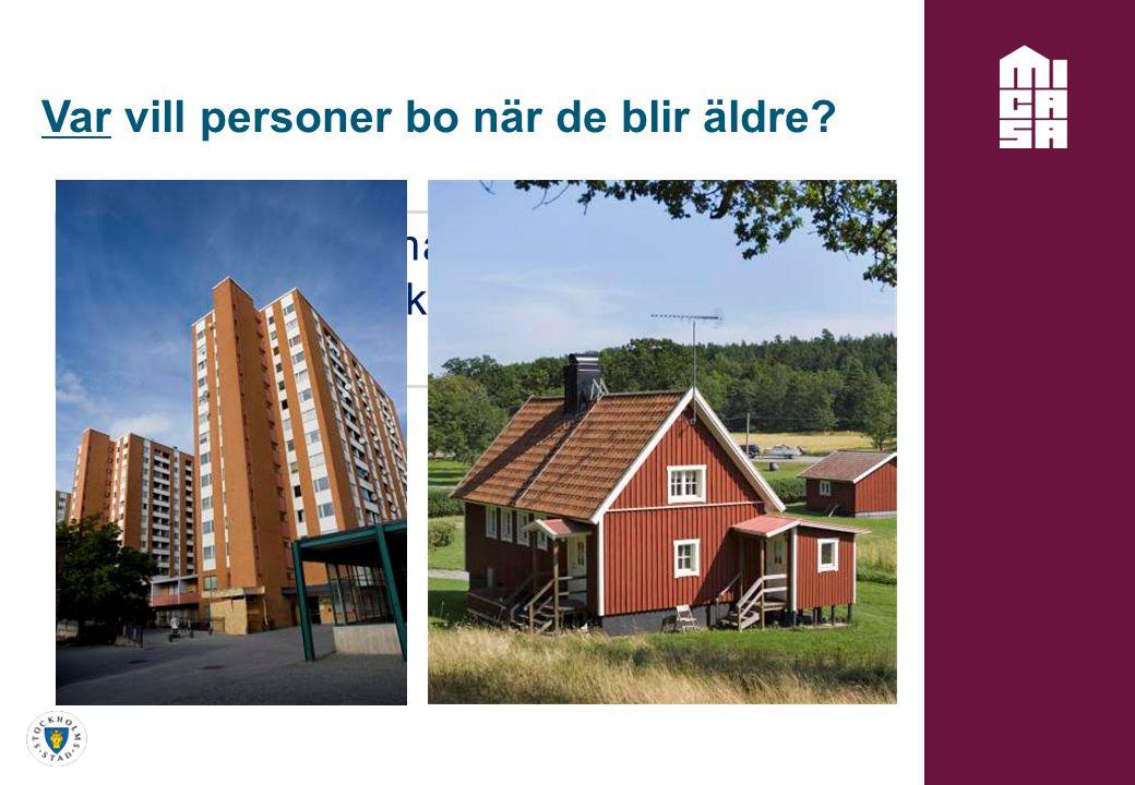 Var vill personer bo när de blir äldre