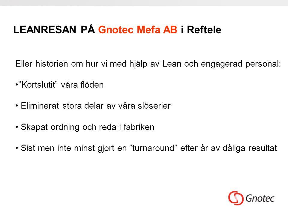 LEANRESAN PÅ Gnotec Mefa AB i Reftele