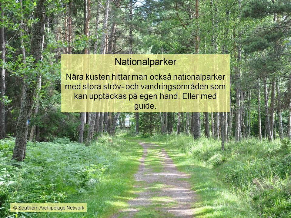 Nationalparker Nära kusten hittar man också nationalparker med stora ströv- och vandringsområden som kan upptäckas på egen hand. Eller med guide.