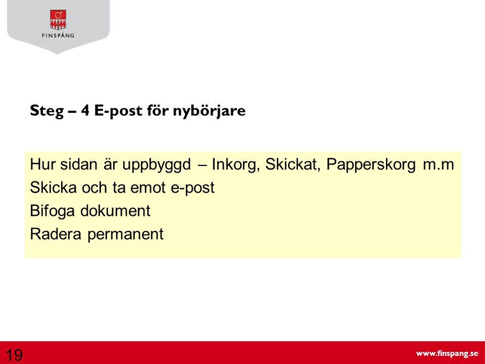Steg – 4 E-post för nybörjare