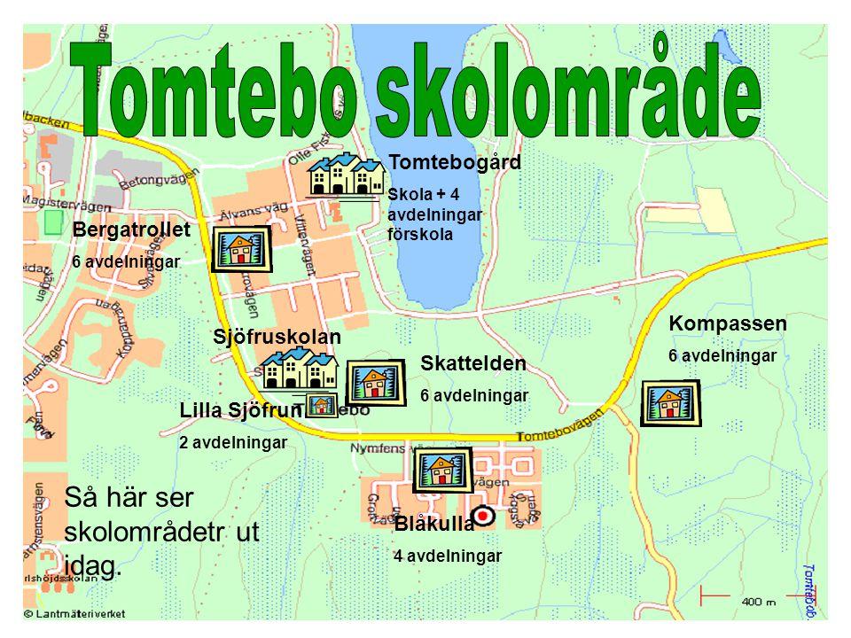 Tomtebo skolområde Så här ser skolområdetr ut idag. Tomtebogård