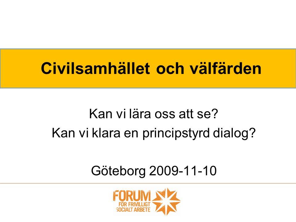 Civilsamhället och välfärden