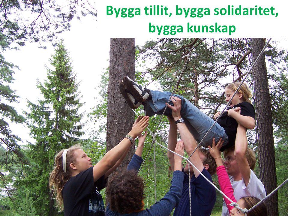 Bygga tillit, bygga solidaritet, bygga kunskap