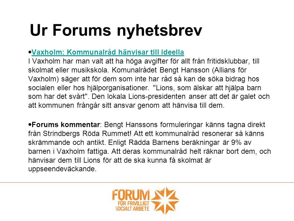 Ur Forums nyhetsbrev