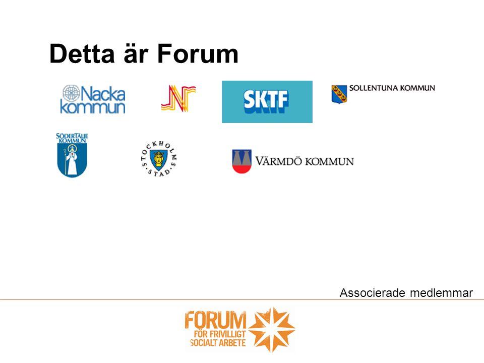 Detta är Forum Associerade medlemmar