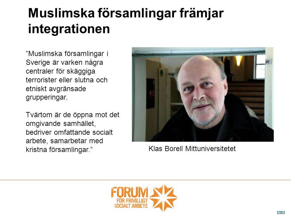 Muslimska församlingar främjar integrationen
