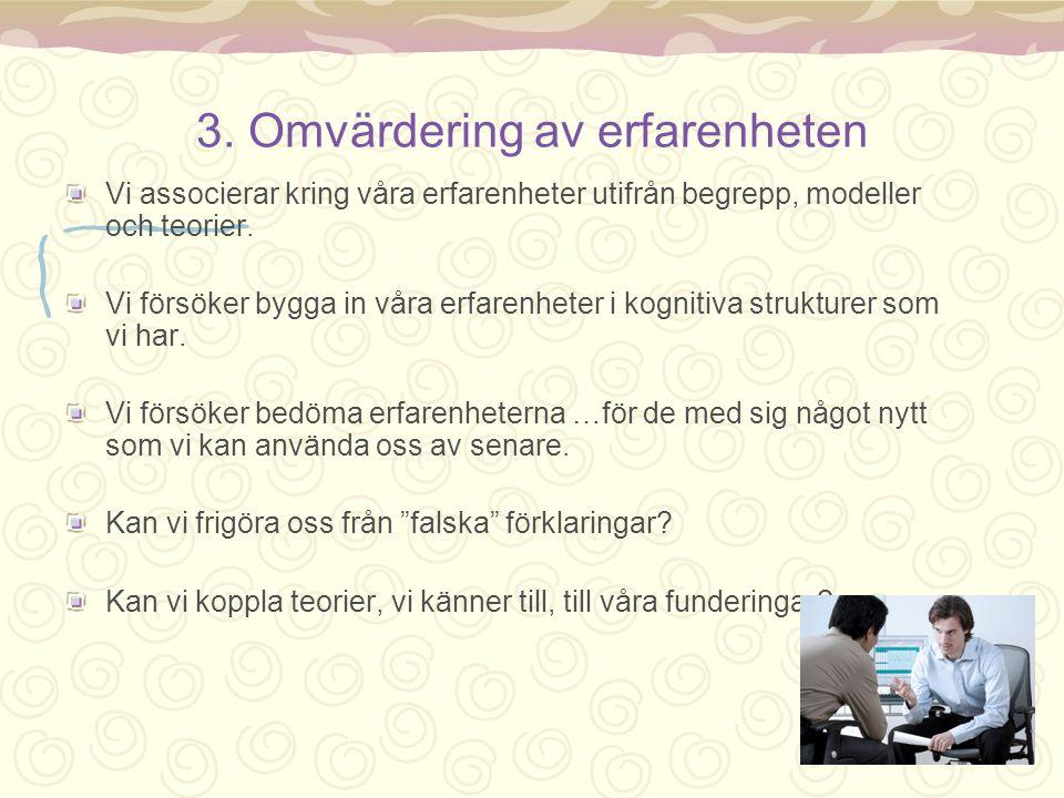 3. Omvärdering av erfarenheten