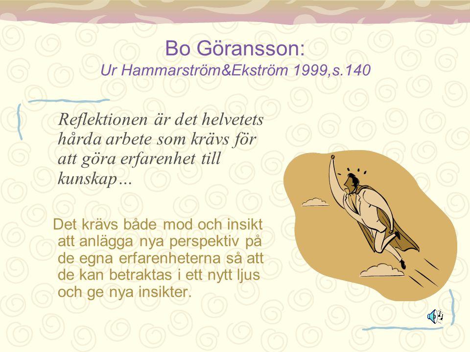 Bo Göransson: Ur Hammarström&Ekström 1999,s.140
